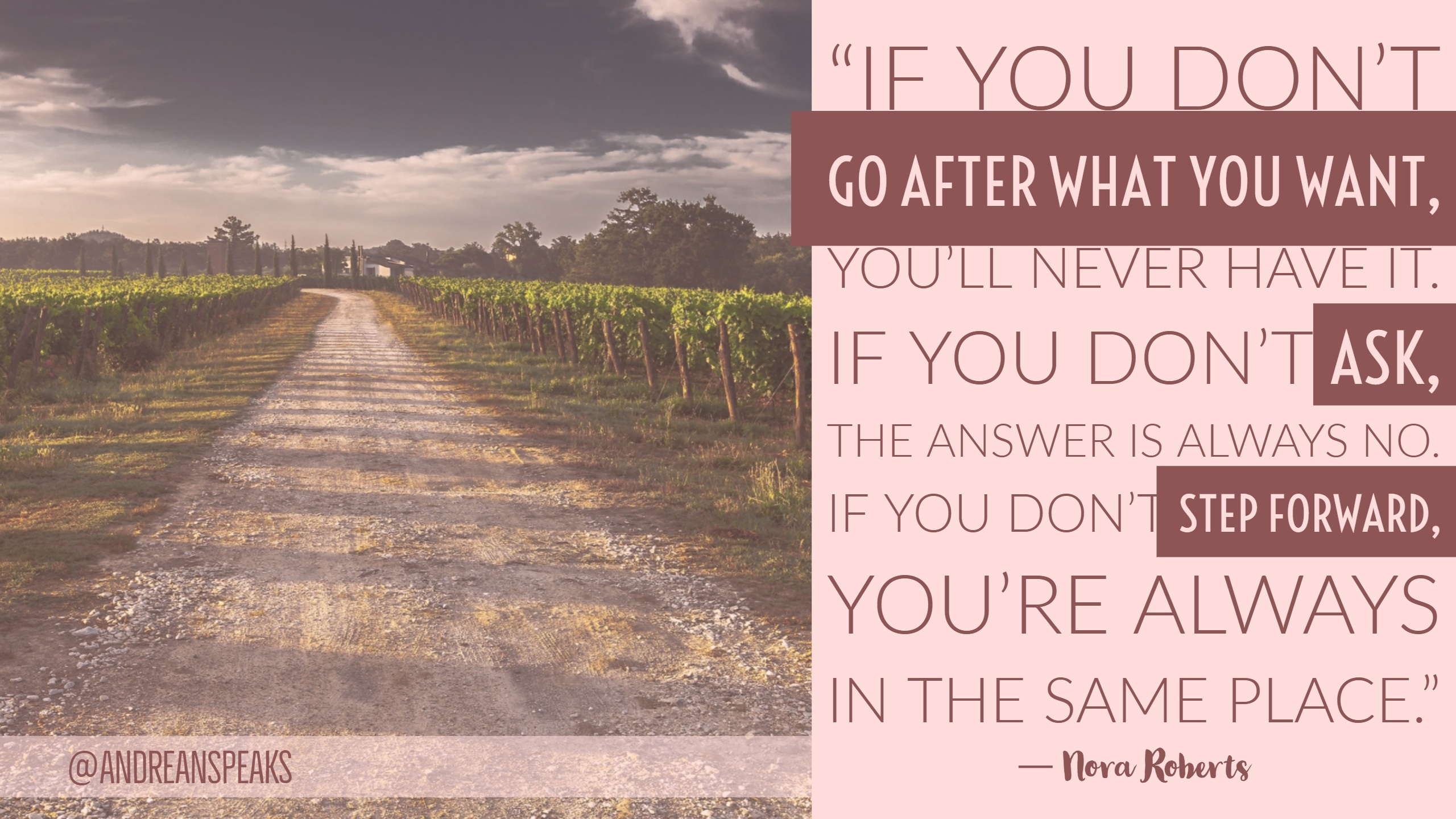 if you don't go after...